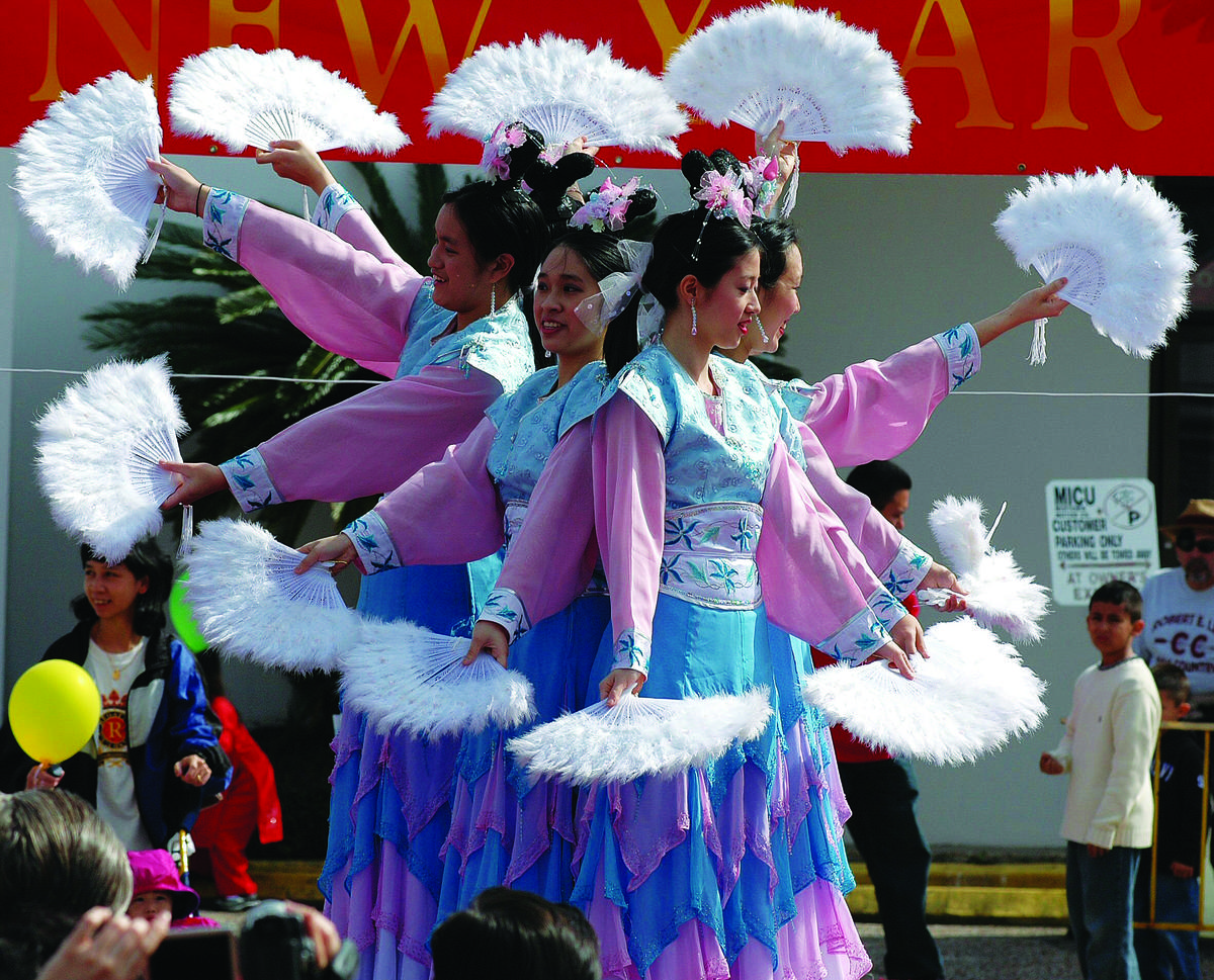 Dance Performers at Chinatown, Houston