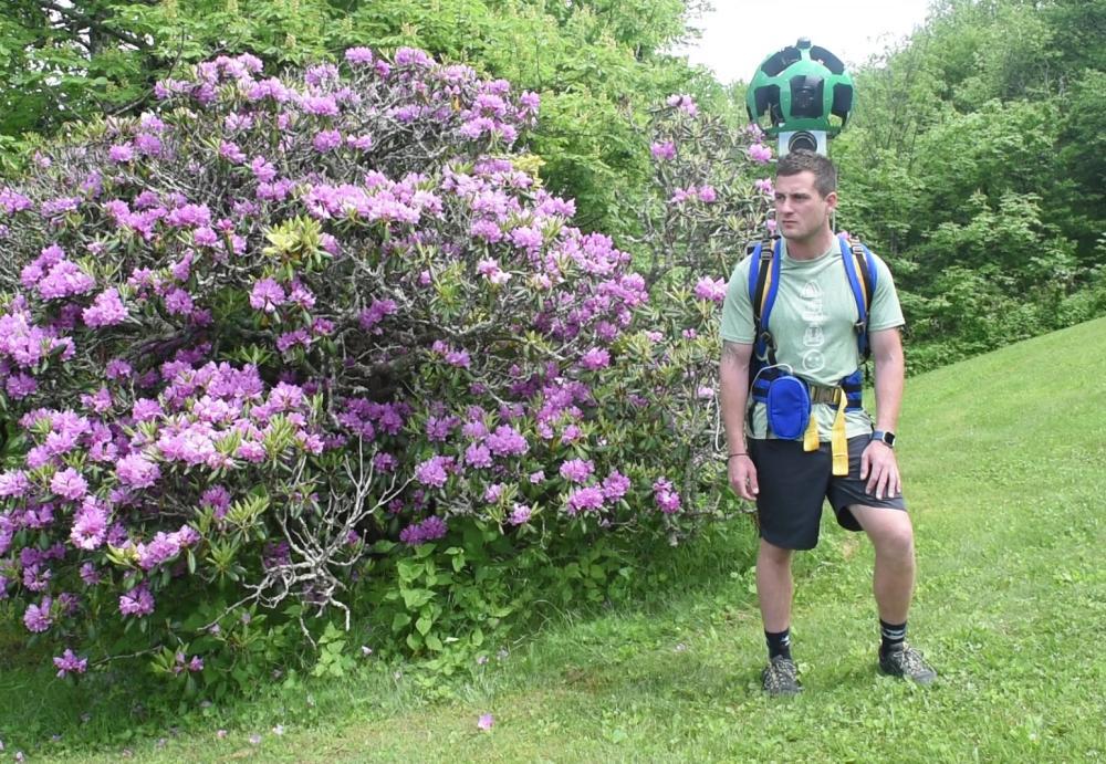 Evans with Google Trekker