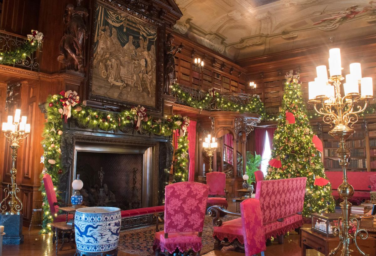 Christmas at Biltmore Estate Library 2017