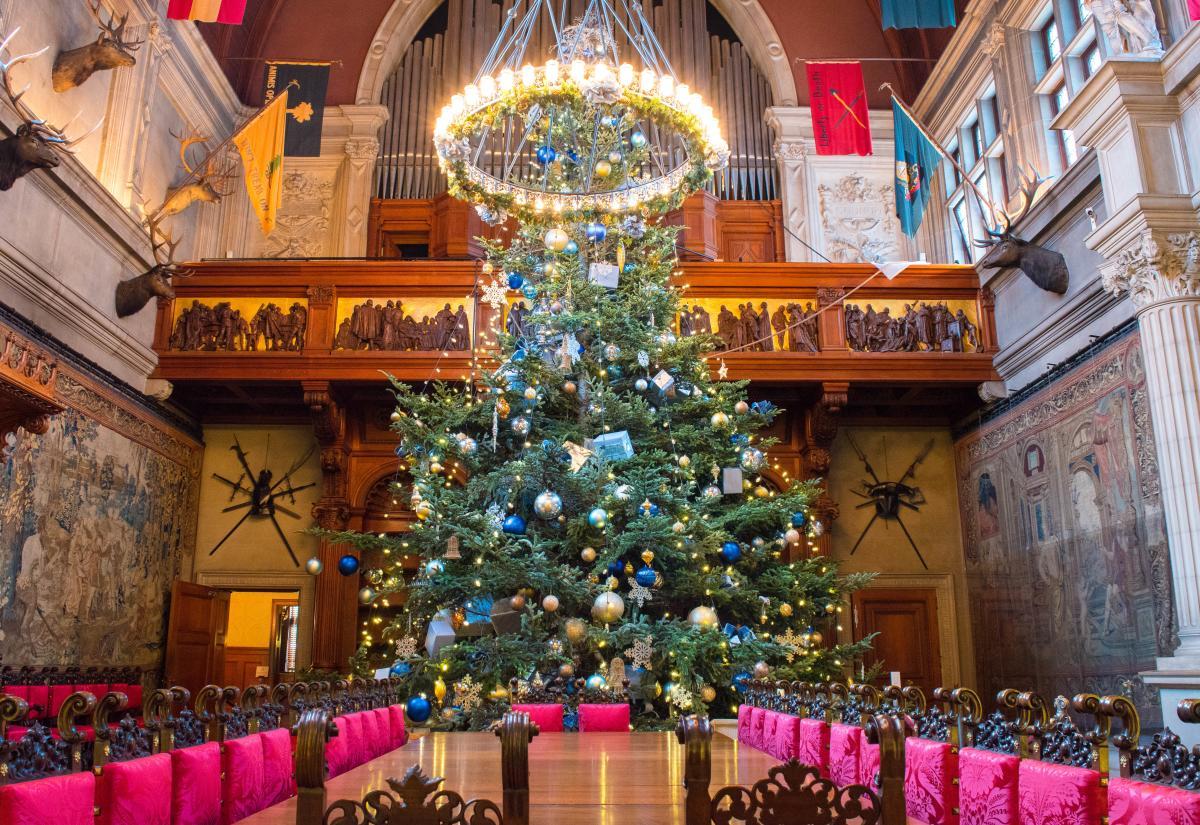 Banquet Hall Tree Christmas at Biltmore Estate 2017