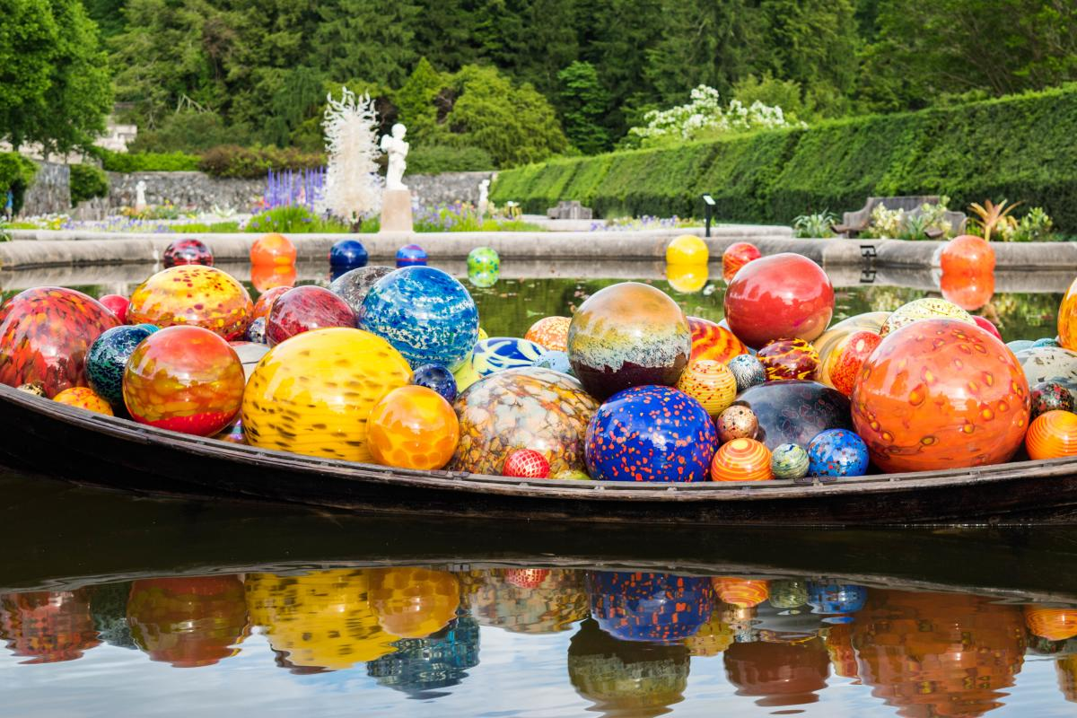 Chihuly at Biltmore Italian Garden