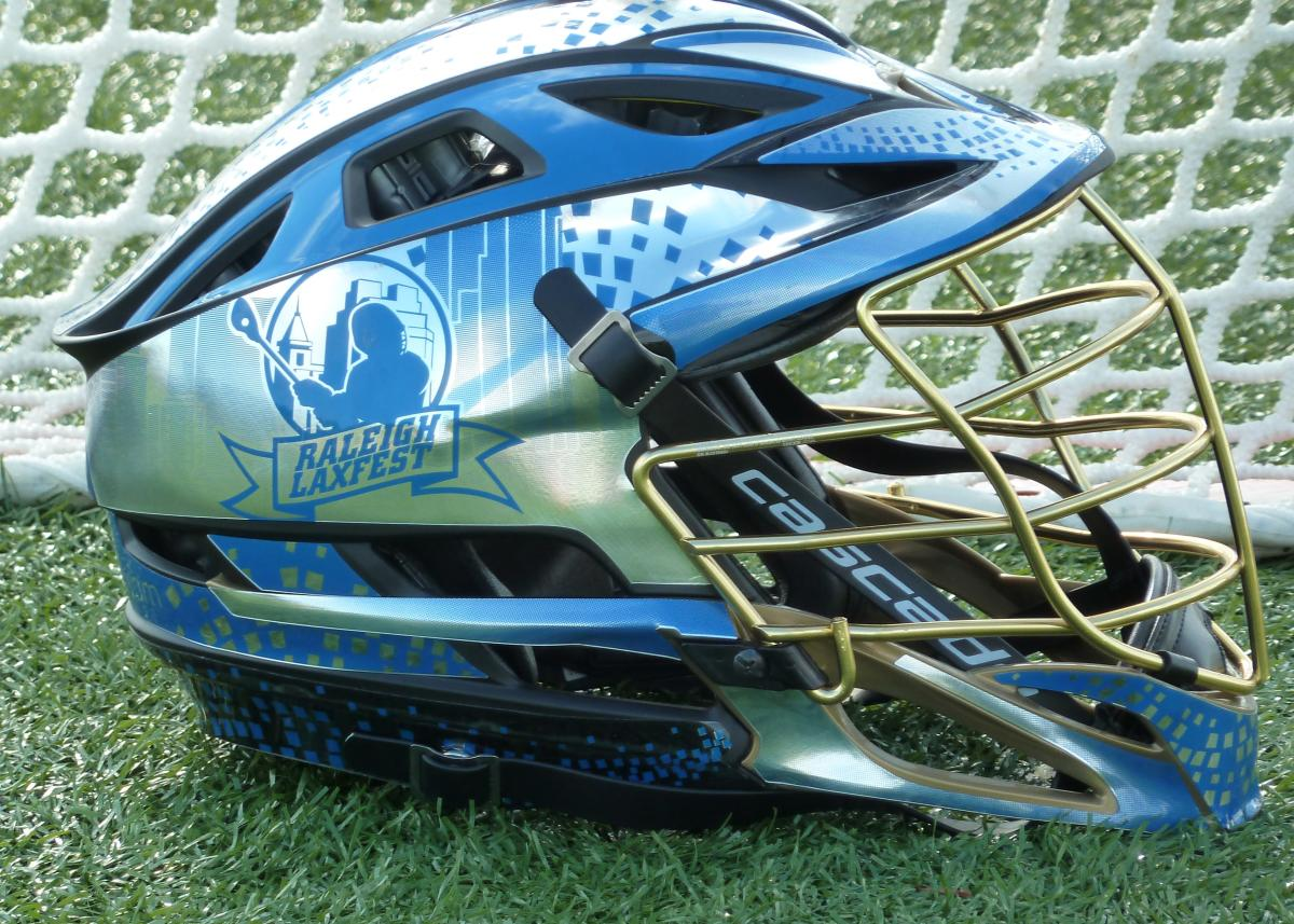 Raleigh LaxFest helmet - Greater Raleigh Sports Spotlight