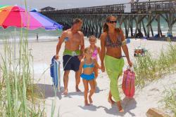 Family on the Beach in Myrtle Beach