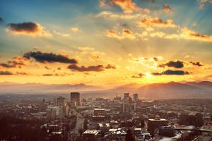 Sunset Over Asheville Skyline