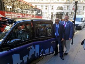 London cabbie interior