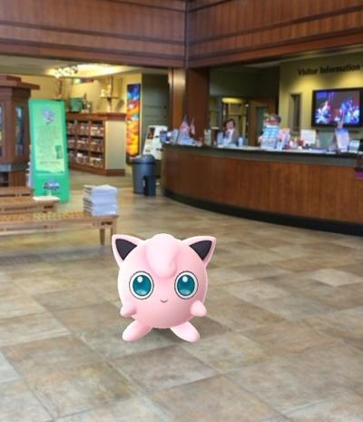 Pokemon in Visitor Center