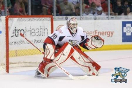 Hockey Player Tom McCollum in Grand Rapids