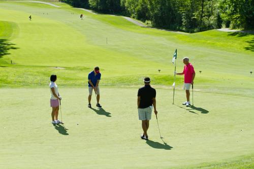 People golfing in Grand Rapids, Michigan