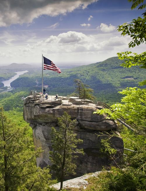 Get a new perspective at Chimney Rock