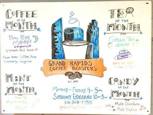 Grand Rapids Coffee Roasters Whiteboard