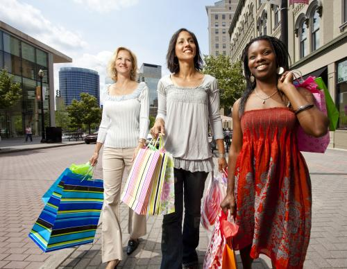 Women Shopping in Downtown Grand Rapids
