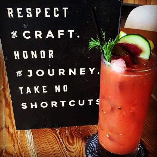 Bloody Mary at the Long Road Distillers in Grand Rapids