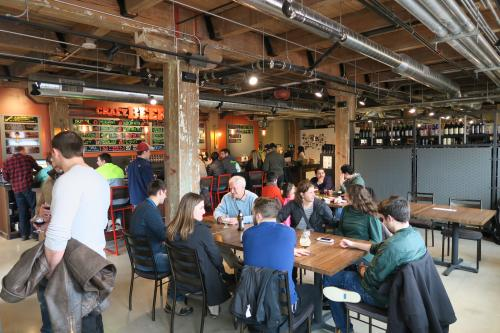 crowd at the Craft Beer Cellar taproom
