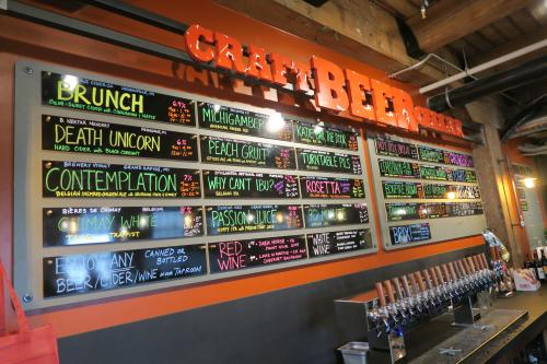 Craft Beer Cellar's draft list