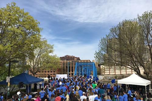 Hope Network Bridge Walk for Autism at the Grand Rapids Blue Bridge
