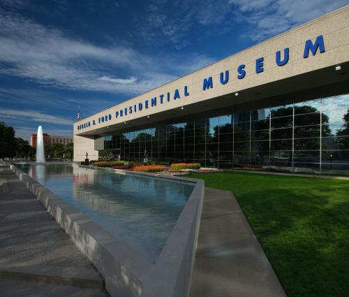 Exterior of Gerald R. Ford Presidential Museum in Grand Rapids