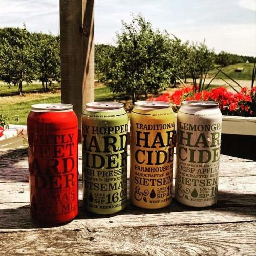 Sietsema Orchards cider cans