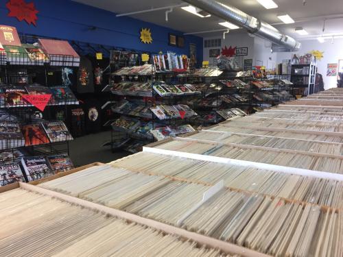 Interior of The Comic Signal in Grand Rapids, Michigan