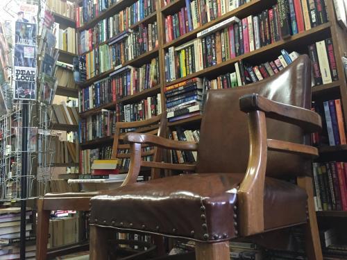Book shelves full of comics in Argos Book Shop in Grand Rapids, Michigan