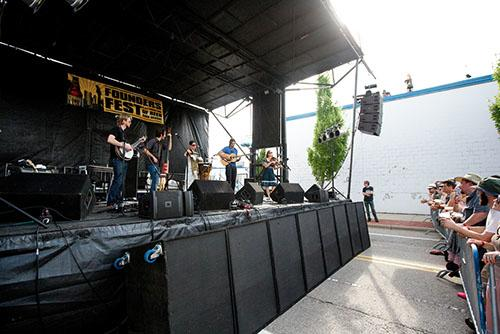 Band playing at Founders Fest in Grand Rapids, MI