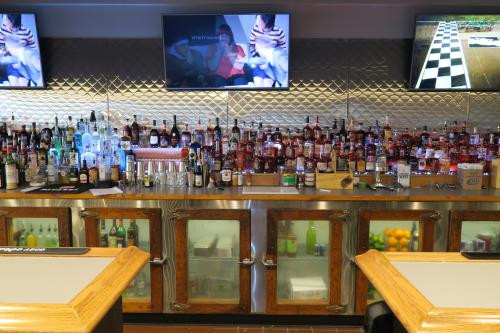 Full bar at the Riverside Lounge in Grand Rapids, Michigan