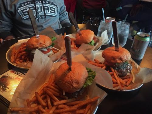 Burgers at Stella's Burger in Grand Rapids, Michigan