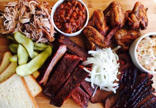 Barbecue dish at Slows Bar BQ in Grand Rapids