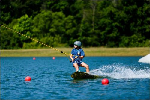wakeboarder at Action Wake Park in Hudsonville, Michigan