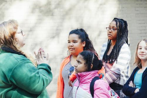 Female students in Grand Rapids
