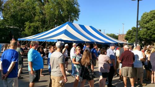 Crowd at Pulaski Days GR festival in Grand Rapids