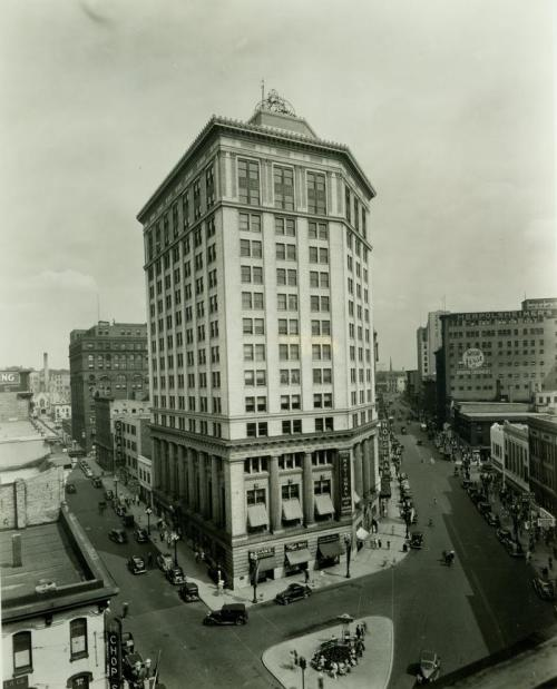Old photo of McKay Tower in downtown Grand Rapids, Michigan