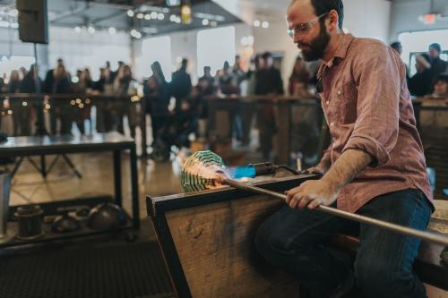 Hot Glass at Lexington Glassworks in Asheville, N.C.