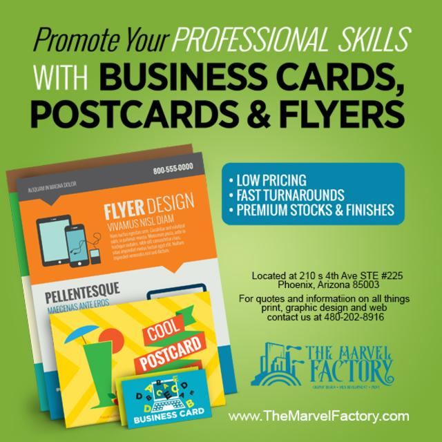 The marvel factory business cards and marketing colourmoves