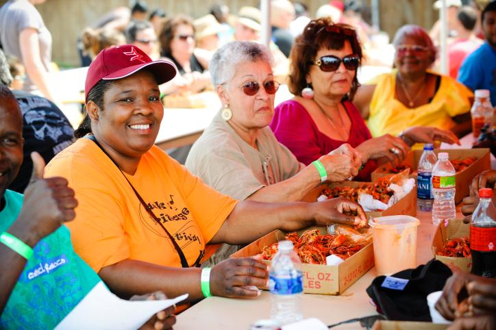 Eating Crawfish at the Crawfish Festival