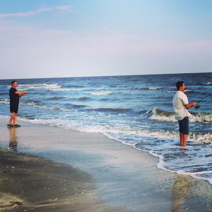 Monsours wade fishing