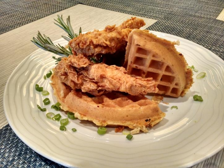 Favorites Chicken and Waffles breakfast