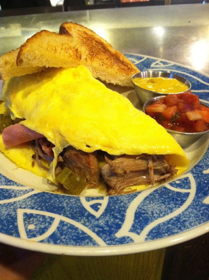 San Chez Bistro breakfast dish in Grand Rapids