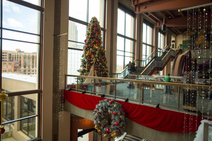 Christmas decor in the Grand Rapids Public Museum