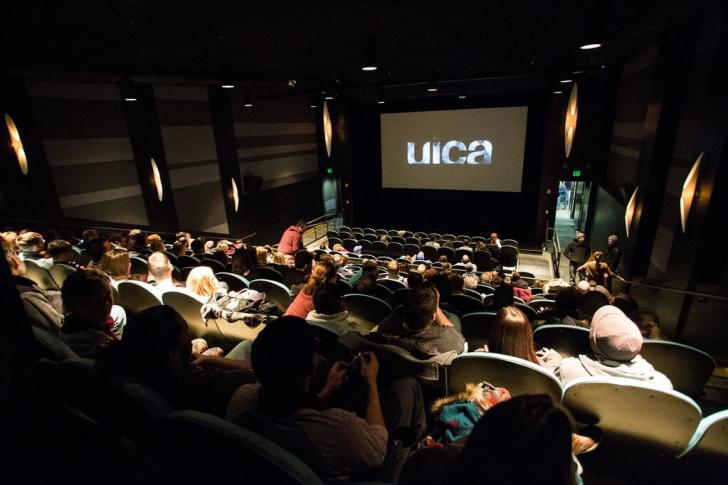 Audience at the UICA Theater in Grand Rapids