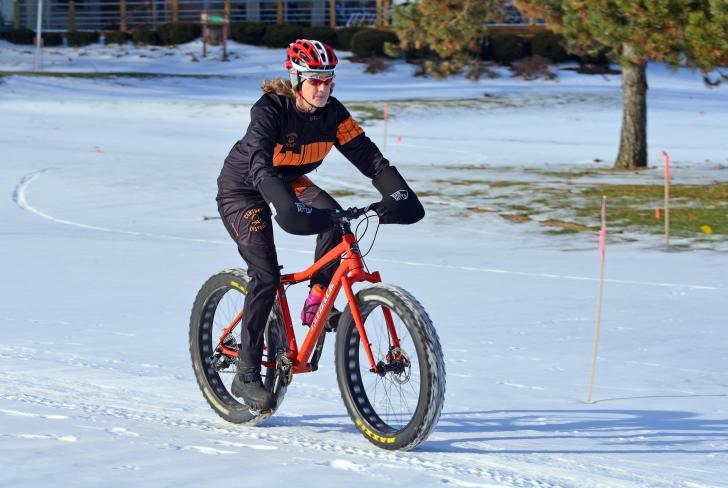 Fat tire biking at Indian Trails in West Michigan