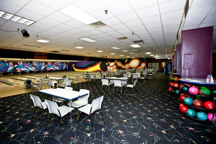 Interior of Westgate Bowling in Comstock Park, Michgan
