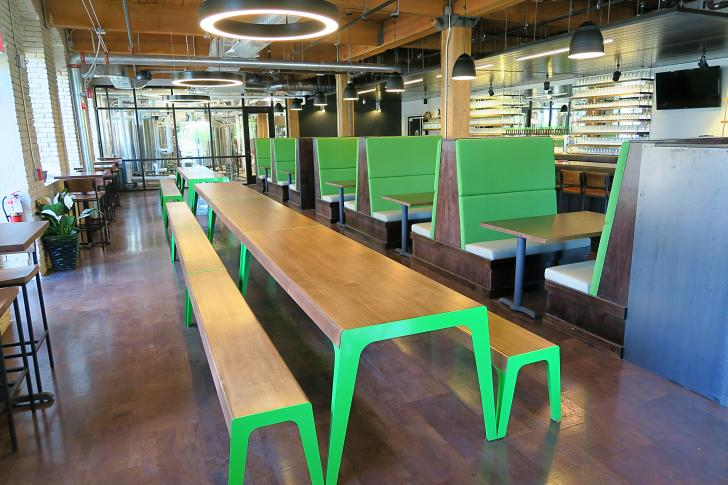 Interior of City Built Brewing in Grand Rapids