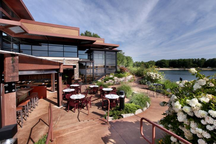 Blue Water Grille's patio in Grand Rapids