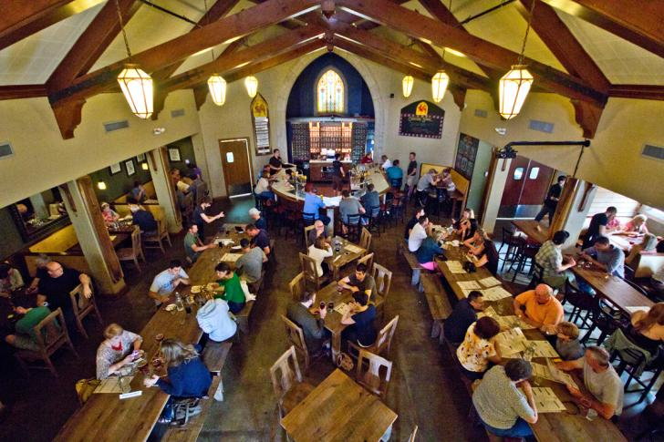 Interior of Brewery Vivant in Grand Rapids