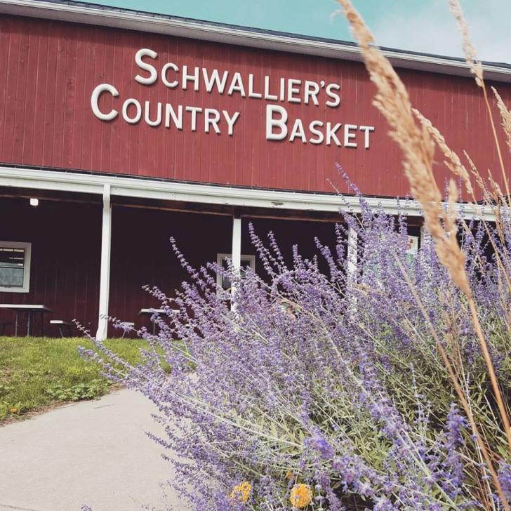 Schwallier's Country Basket store front in Sparta, Michigan