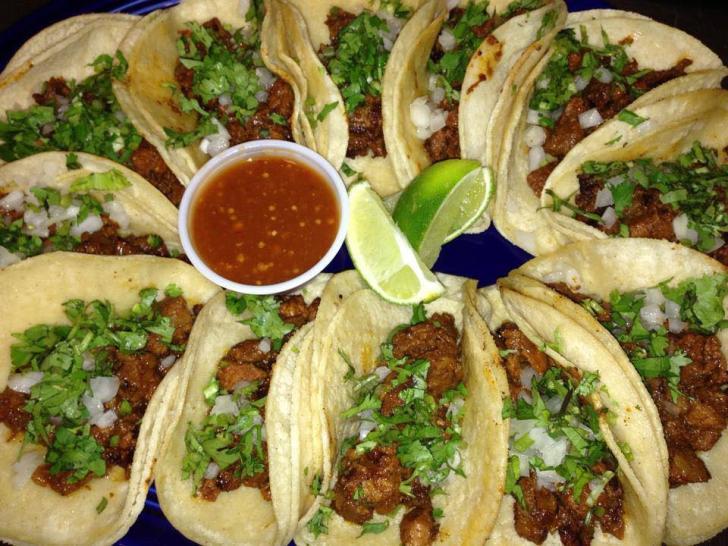 Tacos from El Cunado Bridge Street in Grand Rapids, Michigan