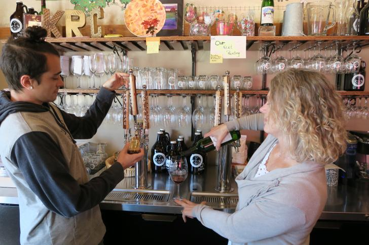 Karen Grossman and son, Jacob Grossman at MI Brewery in Rockford, MI