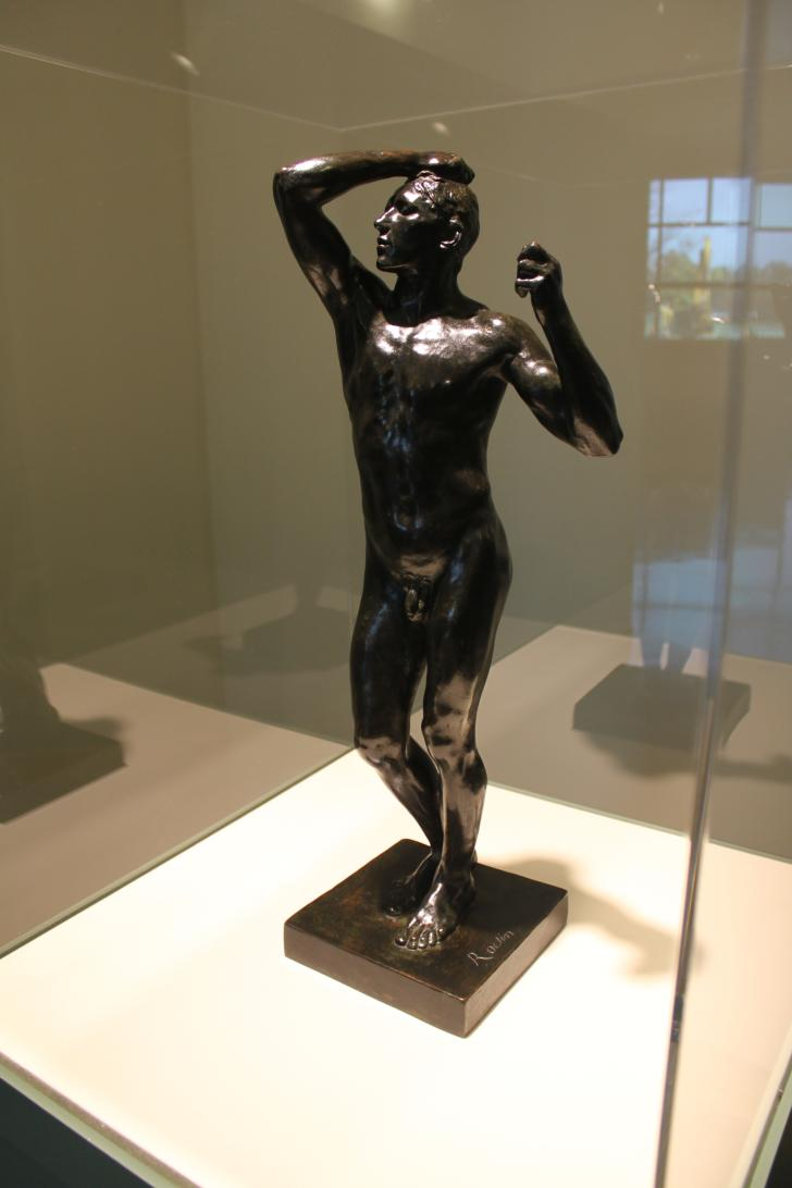 Auguste Rodin - Age of Bronze sculpture on view in Grand Rapids
