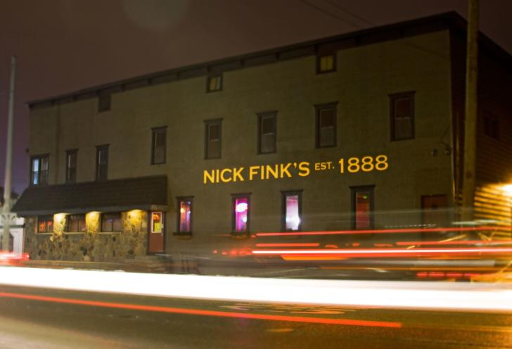 Exterior of Nick Fink's bar in Grand Rapids