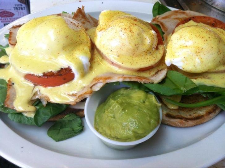 Wolfgang's Restaurant eggs Benedict brunch in Grand Rapids
